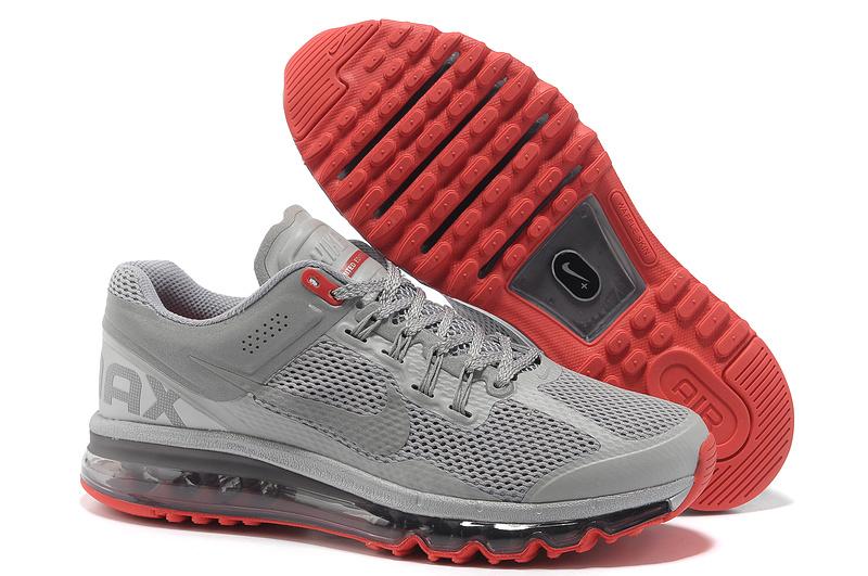 brand new c16c8 abc96 acheter nike air max 2013 hommes femmes lovers vg gris rouge