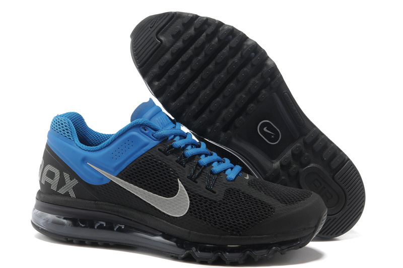 big sale 43080 a0fab 42.00EUR, nike air max 2013 casual sport chaussures hommes femmes main  tendance black blue