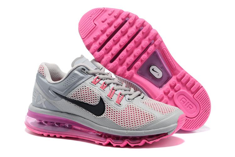 online retailer b5a66 15f20 nike air max 2013 casual sport chaussures hommes femmes main tendance gray  pink