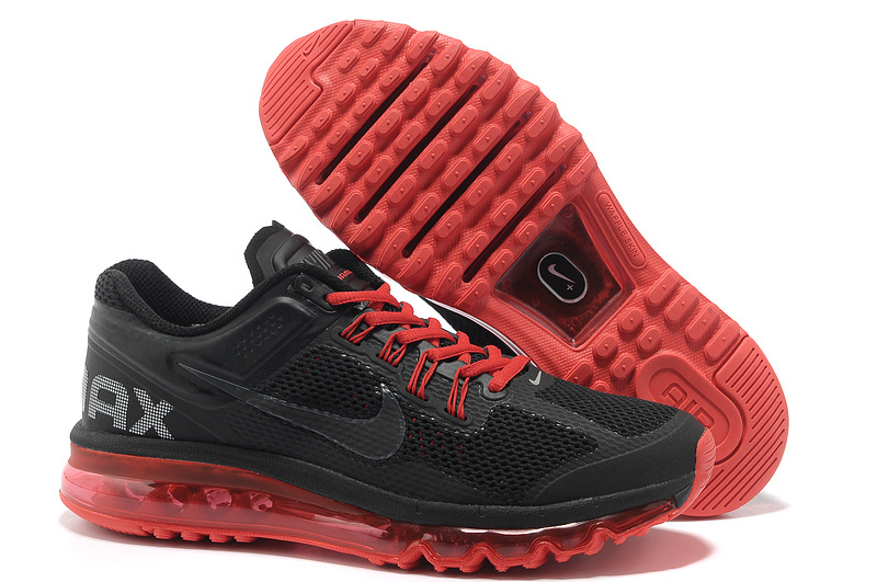 detailed look 91f50 25925 pas cher nike air max hommes 2013 the main push black red