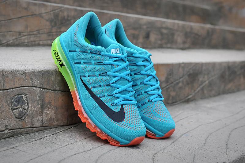 wholesale dealer 637ff e200c chaussures nike air max 2016 baskets super hommes france orange eau bleue