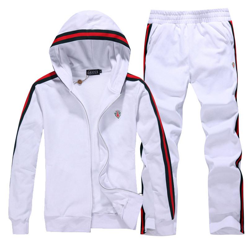 survetement gucci hommes 2013-2014 tendances mode promotions blanc rouge a30f3d11918